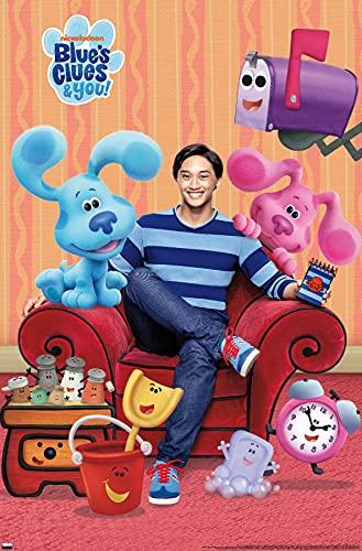 "Trends International Blue's Clues - Group Wall Poster, 22.375"" x 34"", Premium Unframed Version"