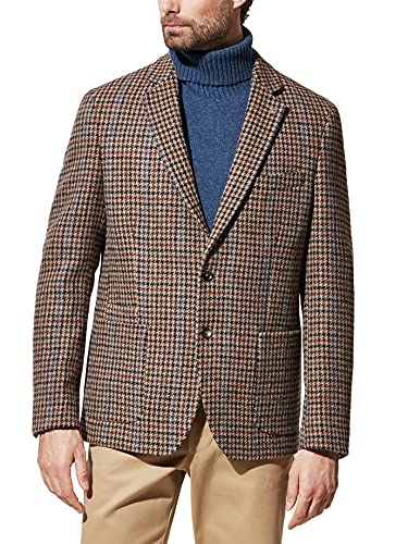 Walbusch Herren Roetzels Harris Tweed Sakko Mehrfarbig Beige/Braun 52