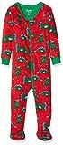 Hatley Organic Cotton Footed Sleepsuit Pijama, Rojo (Festive Dinos 600), 6-9 Meses (Talla del Fabricante: 6M-9M) para Bebés