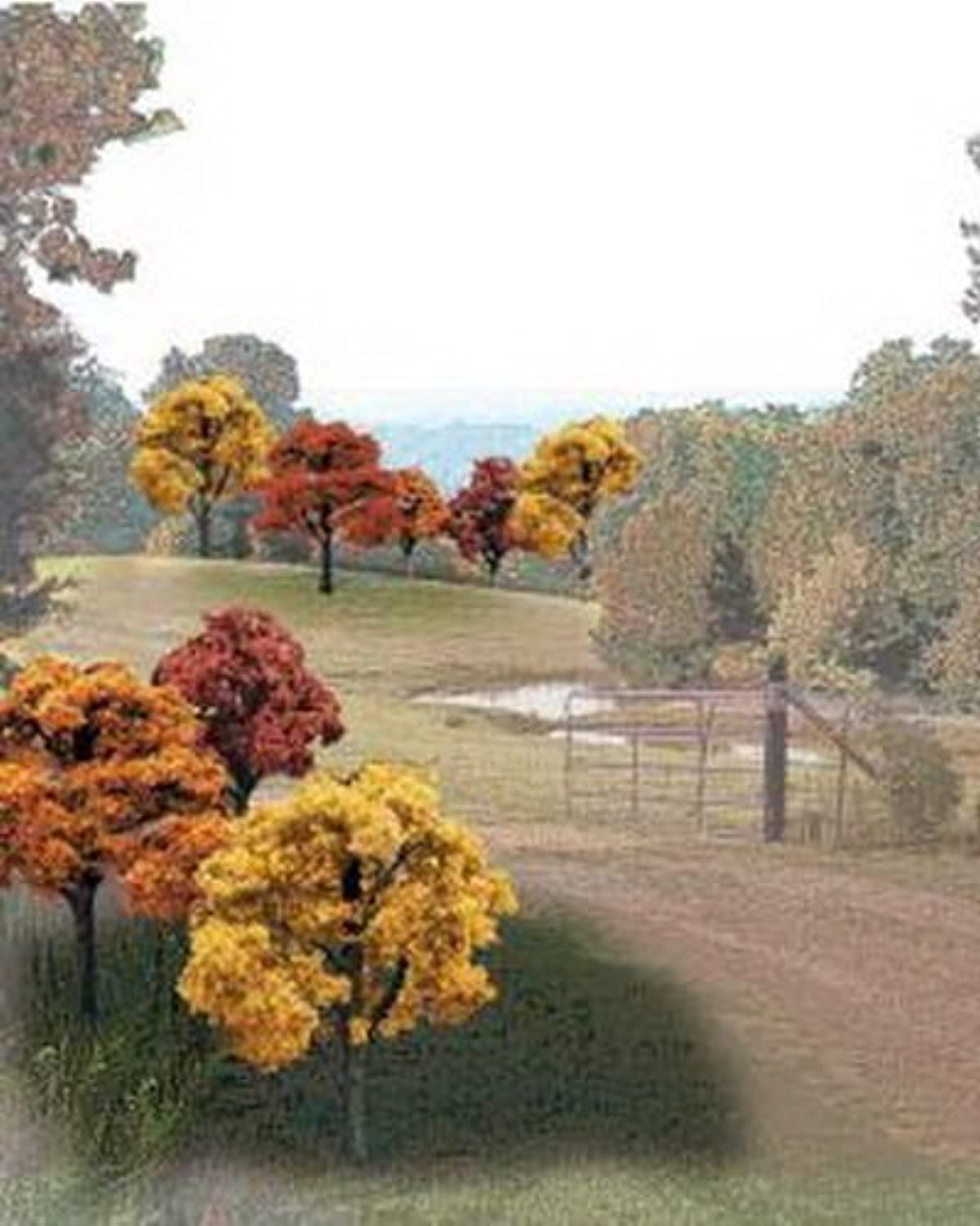 Fall Deciduous Value Pack Ready Made Trees 2  - 3  Woodland Scenics by Woodland Scenics