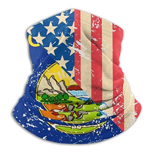 Not applicable Rétro USA Et Montana État Drapeau Cou Guêtre Masque Visage Chapeaux Cagoules pour Cyclisme Ski