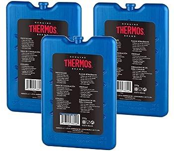 Thermos Lot de 3 pains de glace réutilisables 200g