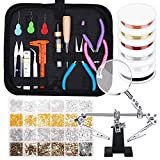 Jewelry Making Supplies, Shynek 1597pcs Jewelry Kit with Jewelry Pliers Tools Jewelry Wire and Jewelry Accessories for Earrings, Necklaces, Bracelets Jewelry Making and Repair