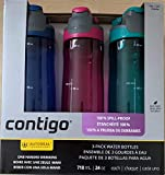Contigo AUTOSEAL 24oz. Spill-Proof and BPA Free Water Bottle, 3-pack