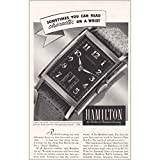 1939 Hamilton Watch: You Can Read Character on a Wrist, Hamilton Watch Company Print Ad