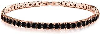Verona Jewelers Womens Gold Plated Tennis Bracelet- Round Cut Cubic Zirconia