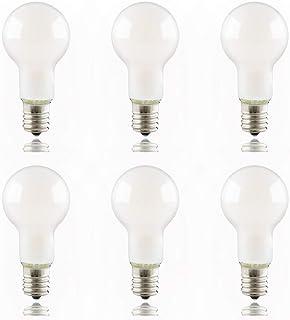 ygdesign LED電球 E17口金 40W形相当 電球色 ミニクリプトン クリプトン電球 フィラメント エジソン電球 全方向 3000K 口金直径17mm 小型電球 ガラス球 シャンデリア PSE認証 省エネ 6個入
