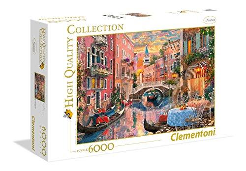 Clementoni 36524 Venedig bei Sonnenuntergang – Puzzle 6000 Teile, High Quality Collection, Geschicklichkeitsspiel für die ganze Familie, Erwachsenenpuzzle ab 14 Jahren