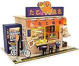 Appoo DIY casa de muñecas Estilo japonés Cabina ensamblada Hermosa Tienda de Dulces de Madera niños Modelo de Juguete Mini casa de muñecas Arte Regalo hábil-Tienda de Dulces japoneses