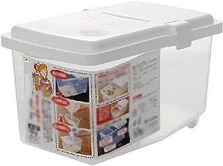 YWSZJ 5 kg boîte de Rangement de Riz Distributeur de céréales à Grains Couvercle Rabattable Organisateur Alimentaire conte...