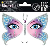 HERMA 15308 Face Art Sticker Butterfly Gesicht Aufkleber Glitzer Sticker für Fasching, Karneval,...