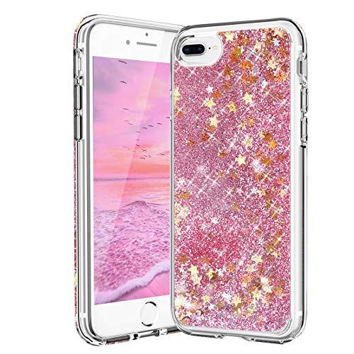 Carcasa para iPhone 7 Plus, iPhone 8 Plus, con purpurina y arenas movedizas líquidas, anticaídas, de silicona TPU suave, para niñas y mujeres, para iPhone 6 Plus/6S Plus/7Plus/8Plus (5,5 pulgadas)