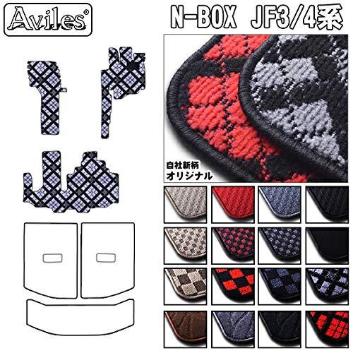 ホンダ N-BOX JF1 JF2 JF3 JF4 フロアマット 泥落ち防止(独自設計) リアステップまでカバー NBOX【16色から選択】(4:JF3/JF4 ベンチシート,10:BIGチェック × グレー)