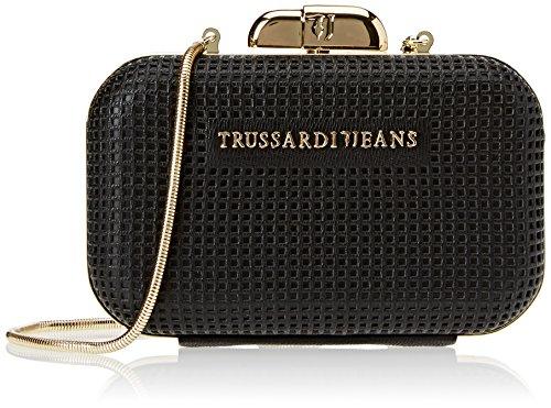 Trussardi Jeans 75b00208-1y000061, Pochette da Giorno Donna, Nero,...