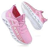 Zapatos Niña Deportivas Niño Chicas Tenis Zapatillas de Correr Unisex Calzado Gimnasio Caminar Diariamente Zapatos Atléticos Interior y Exterior Moda Rosa Talla 28