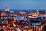 SuperPower 1000 piezas Europea Budapest Cielo Nocturno Horizonte Lago Edificios Paisaje Fotografía Adultos Ejercicio Cerebro Juegos de suelo Puzzles de madera