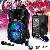 Enceinte SPACER08 SONO DJ KoolStar Karaoke autonome Mobile sur Batterie 8' - 200W - USB/Bluetooth/SD + Micro + Jeu UFO OVNI