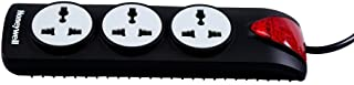 Honeywell 3 Out Surge Protector with Master Switch (Black)
