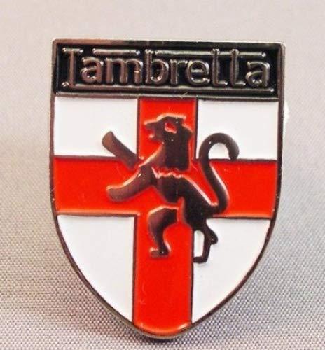 Pin de metal esmaltado, diseño de escudo de England St. George con Scooter Lambretta
