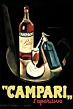 Marcello Nizzoli Campari Laperitivo Alcohol Liqueur Vintage Advertising Cool Wall Decor Art Print Poster 24x36