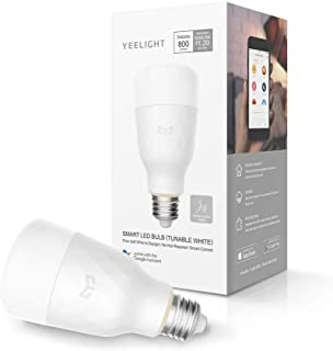 Yeelight Smart Light Bulb,Dimmable and Tunable White,App & Voice controll Wi-Fi Smart Bulb,Alexa Compatible,no hub Bridge Switch Required,2700K-6500K A19 60W Equivalent Smart Home LED Bulbs