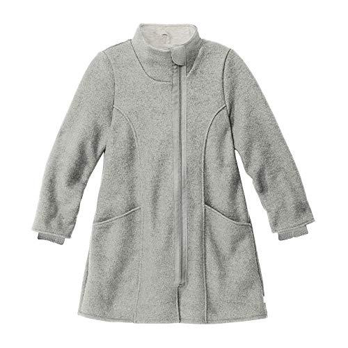 Cappotto bambina in lana cotta - col. grigio