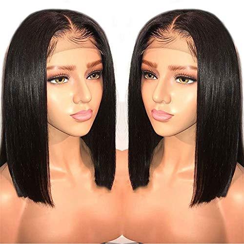 LIAZAHAIR Short 現品 Bob 13x6 Lace Front 150% Den Wigs Brazilian 新発売 Hair