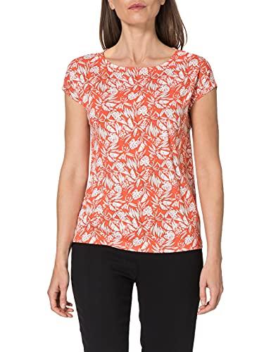 Gerry Weber Casual T-Shirt 1/2 Arm, Rosso/Arancione/Ecru/Bianco Dru, 40 Donna