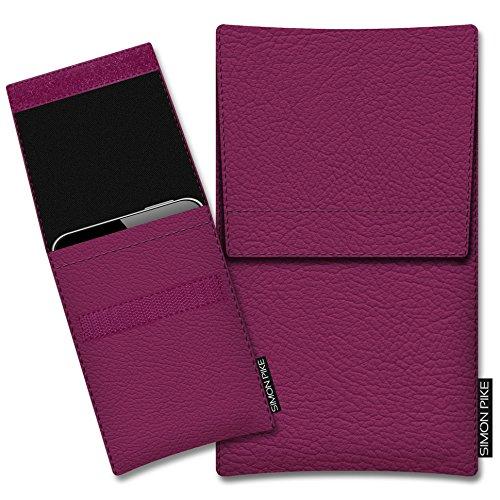 SIMON PIKE Schutztasche Sidney, kompatibel mit BlackBerry Porsche Design P9983, in 01 pink Kunstleder Handyhülle Schutzhülle Handytasche