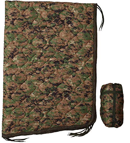 USGI Industries Military Woobie Blanket - Thermal Insulated Camping Blanket, Poncho Liner – Large, Portable, Water-Resistant, for Hiking, Outdoor, Survival, Comes with Compression Carry Bag (Marpat)