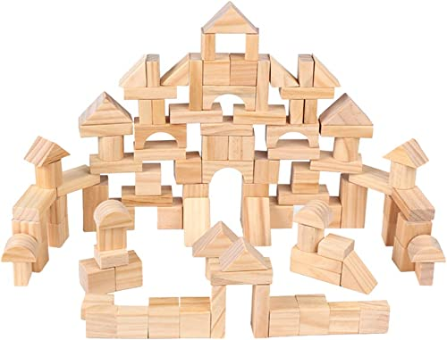 A la venta con descuento del 70%. STOBOK Bloque de construcción de Madera Set Castle Castle Castle Blocks Juguete Educativo para Niños y niñas 100PCS  entrega gratis