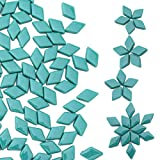 Youway Style Diamond Shape Mosaic Tiles for DIY Crafts or Home Decoration(Turquoise Colors,150PCS, 11oz)