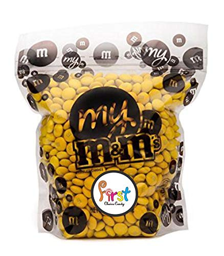 All Color M&M'S Bulk Candy Bag (Yellow, 2 LB)