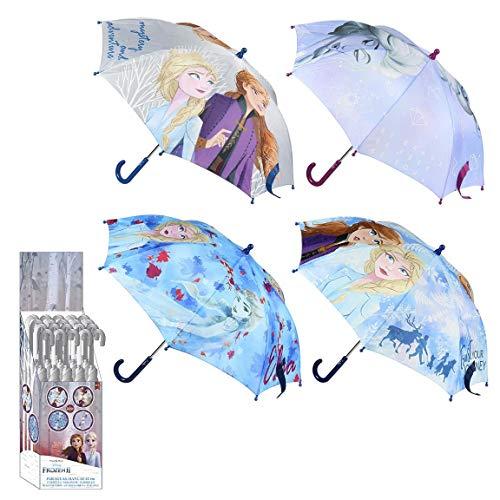 CERDÁ LIFE'S LITTLE MOMENTS- Paraguas Manual Infantil Elsa y Anna de Frozen - Licencia Oficial Disney, Color Perla (2400000516_T42C-C37)