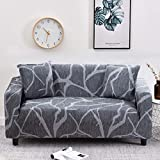 WXQY Funda de sofá elástica con diseño de Flor de melocotón, Funda de sofá con protección para Mascotas, Esquina en Forma de L, Funda de sofá con Todo Incluido, A6, 4 plazas