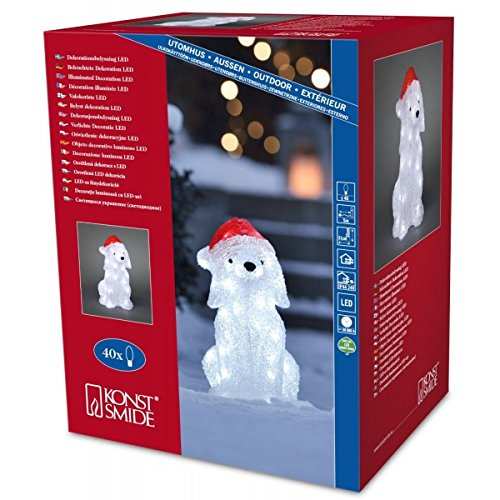 LED Acryl Hund, 40 kalt weiße Dioden, 24 V Außentrafo, IP 44