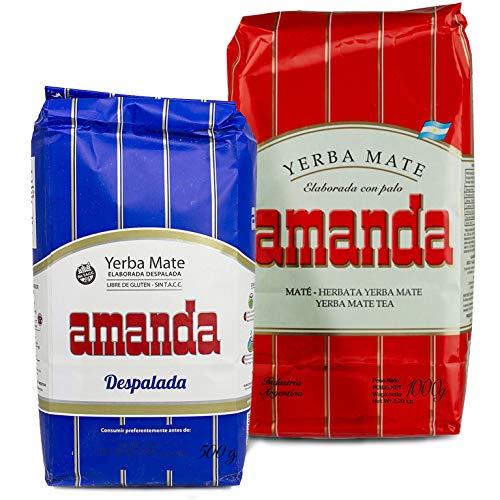 Juego de té Yerba Mate Amanda Tradial 1 kg + Amanda Despalada...