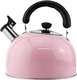 DFANCE Stove Top Kettle, Whistling Tea Kettle Teakettle Stove With Insulation Handle For All Stovetops Home Camping Suitable For Electric Furnace Gas Stove Electric Ceramic Stove Induction Cooker Halo