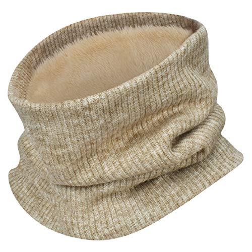 heekpek Bufanda de punto unisex Bufanda de abrigo de invierno con cuello grueso y bufanda para mujer y hombre Bufanda de cuello