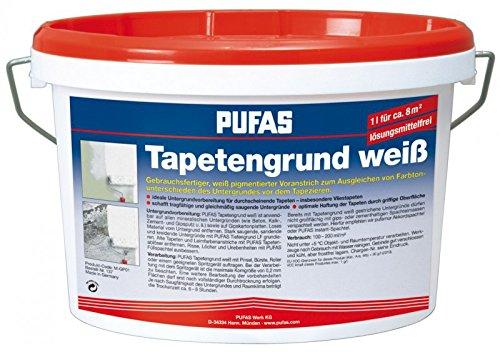 PUFAS Tapetengrund, weiß 2,5 Liter