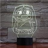 BTEVX 3D Illusion lampe Led veilleuse Anime Litttle enterrement horloge Base mignon garçons pépinière décor beaux enfants anniversaire vacances cadeaux