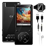 MP3 Player 32 GB 2,4' Bluetooth 5.0 Eingebauter Lautsprecher Metallgehäuse HiFi-Musik-Player, UKW Radio, Sprachaufzeichnungs, Videoplayer, Sportarmband, Unterstützung von bis zu 128 GB - Schwarz