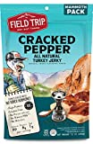 Field Trip Turkey Jerky | Gluten Free Jerky, Low Carb, Healthy High Protein Snacks with No Nitrates, Made with All Natural Ingredients | Cracked Pepper| 12oz Bulk Bag