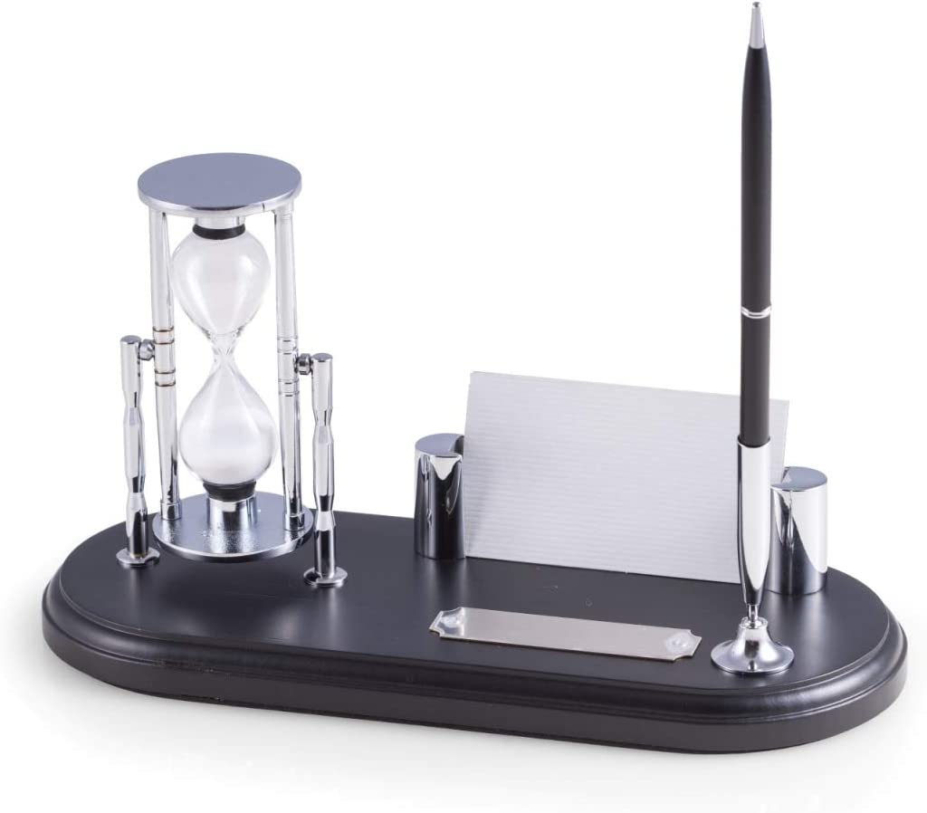 Houston Mall Bey-Berk D819 Black Max 88% OFF Wood Chrome Plated 3 Stand Pen Minute with