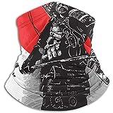 Bklzzjc Japan Culture Samurai Shogun Nackenwärmer - Nackenschutzrohr, Ohrenwärmer Stirnband & Gesichtsmaske.