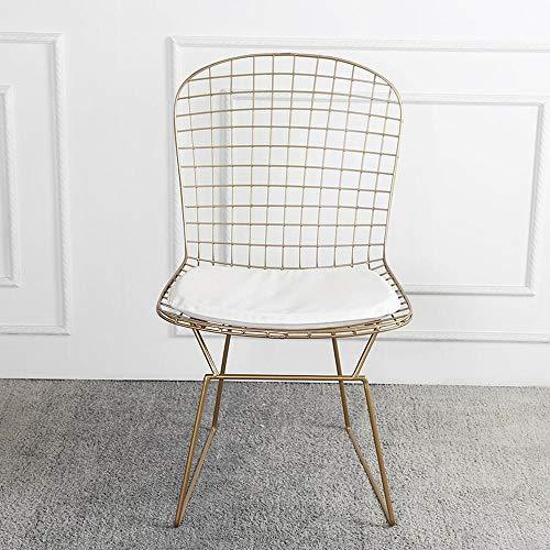 Nordic Gold Openwork Wire Chair Restaurante Moderno Sillón De Comedor Simple Diseñador Estudio Original Asiento De Hierro Forjado