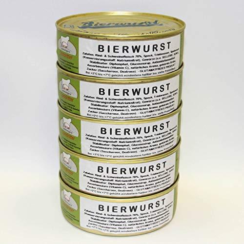 Bierwurst 5x200g Dosenwurst, Vorteilsset, Vorratsset, Landmetzgerei Sandritter