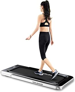 Sparnod Fitness STH-3000 Series (4 HP Peak) 2 in 1 Foldable Treadmill for Home Cum Under Desk Walking Pad (Free Installati...