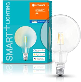 LEDVANCE Smart Led Lamp With Bluetooth, Filament Globe, E27, Dimmable, Replaces Incandescent Lamps With 50 W, Warm White (...