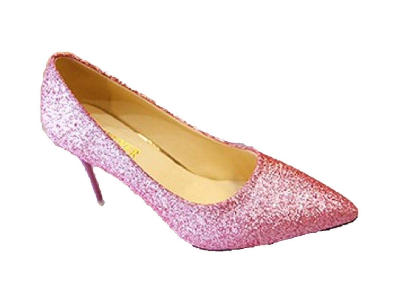 [チョロモ] レディース ハイヒール パンプス 結婚式 パーティー ピンヒール 赤い靴底 美脚 エレガント キラキラ レッドソール